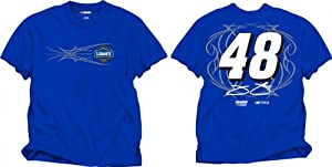 NASCAR Hendrick Motorsports Jimmie Johnson #48 Blue Fan Up T-Shirt by Checkered Flag