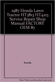 1987 honda lawn tractor ht3813 ht4213 service repair shop. Black Bedroom Furniture Sets. Home Design Ideas