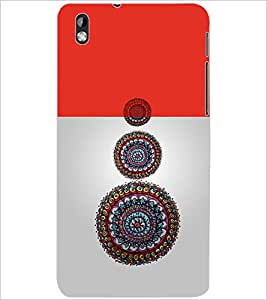 PrintDhaba CIRCLE PATTERN D-6912 Back Case Cover for HTC DESIRE 816 (Multi-Coloured)