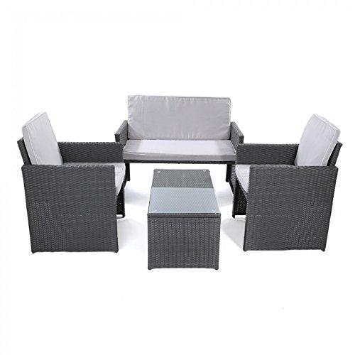 Mobili da giardino: Salotto per esterno in rattan - Premium grigio