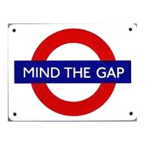 Amazon.com - Mind The Gap London Underground Roundel small enamel sign