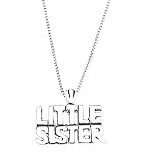 Sterling Silver One Sided Little Sister Necklace