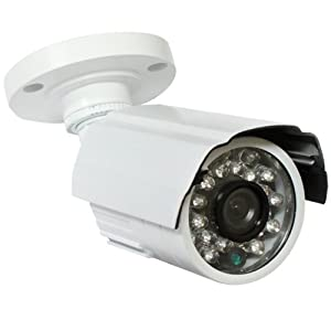 GW Security GW649W Weatherproof Bullet Indoor Outdoor Day/Night IR Security Camera - 600TVL, 1/3 Inch Sharp CCD, 3.6mm Lens, Super Low 0.0 Lux, 24 IR LEDs