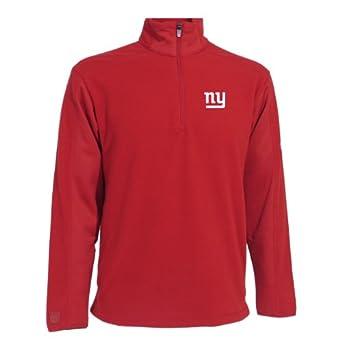 NFL Mens New York Giants 3 4 Zip Fleece Pullover by Antigua