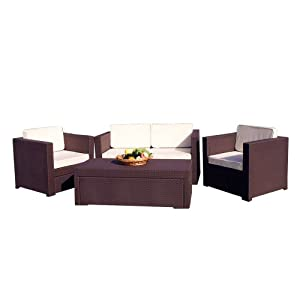 Ideal Atlantic Riviera Piece Conversation Set by Keter Brown