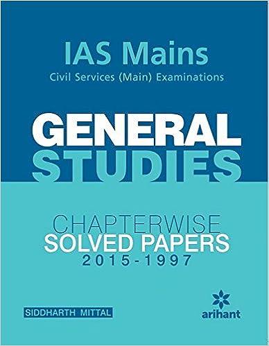 IAS Mains Civil Services Main Examination: General Studies Chapterwise Solved Papers 2012 - 1997 price comparison at Flipkart, Amazon, Crossword, Uread, Bookadda, Landmark, Homeshop18