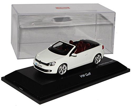 VW Volkswagen Golf VI 6 Cabrio Weiss Ab 2011 1/43 Schuco Modell Auto