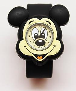 3D Kid's boy's slicone slap on cute mickey wrist quartz watch