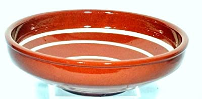 Genuine Terracotta 25cm Serving Bowl - Browncream by Be-Active