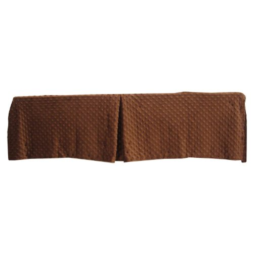 American Baby Company 171SS-CH Heavenly Soft Mini/Porta Crib Bed Skirt (Chocolate)
