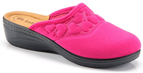 Inblu pantofole ciabatte invernali da donna art. LY-20 ciclamino (39)