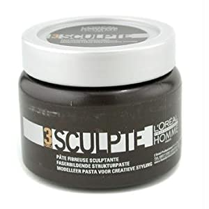 L'Oreal Professionnel Homme Force 3 Sculpte Sculpting Fibre Paste Unisex, 5 Ounce