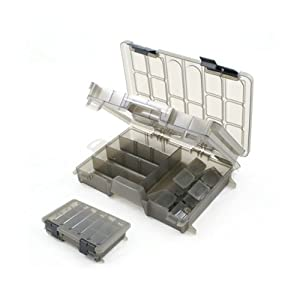 Brytec fishing tackle box two tier large clear tackle for Large tackle boxes for fishing