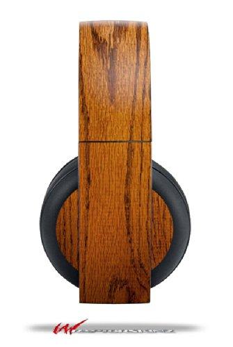 Wood Grain - Oak 01 - Decal Style Vinyl Skin Fits Original Sony Ps4 Gold Wireless Headphones (Headphones Not Included)