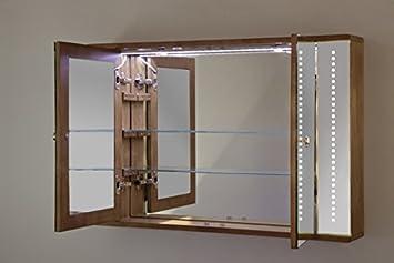 armoire de toilette ch ne massif massif led antibu e. Black Bedroom Furniture Sets. Home Design Ideas