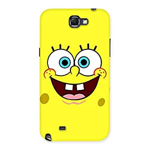 Premium Spong Yellow Back Case Cover for Galaxy Note 2