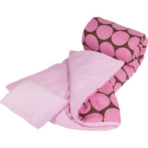 Wildkin Ashley Collection Big Dots Pink Sleeping Bag