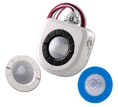 Leviton Osfhu-C4W Mounted Pir High-Bay Sensor With 3 Interchangeable Lenses For Cold Storage, 480V, White