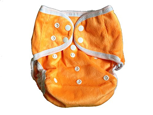 One Size Fit Most - Diaper Covers For Prefolds/Regular Inserts Minky - Orange