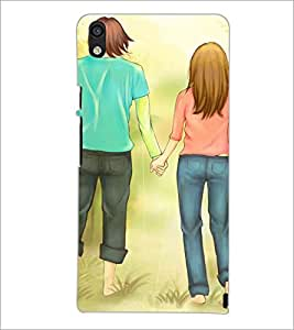 HUAWEI ACEND P6 COUPLE Designer Back Cover Case By PRINTSWAG