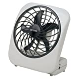 O2 Cool Portable Fan, Battery Operated, White