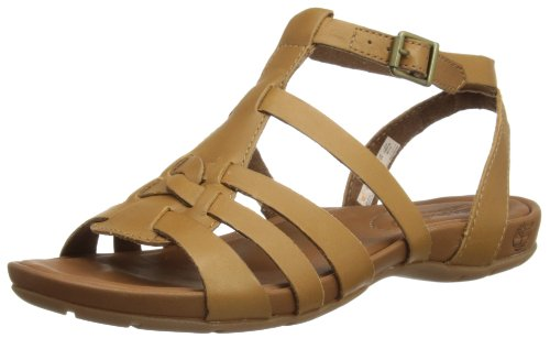 Timberland Womens EK Pleasant Bay Ankle Strap Fashion Sandals C8051A Dark Tan 8 UK, 41.5 EU, Wide
