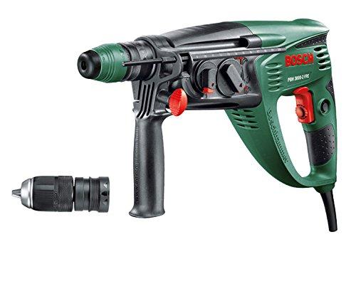 Bosch-DIY-Bohrhammer-PBH-3000-2-FRE-SDS-Bohrfutter-Flachmeiel-Tiefenanschlag-Zusatzhandgriff-Koffer-750-W-Bohr--Beton-26-mm