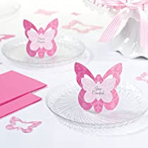 Set of 12 Butterfly Name Cards, Pink