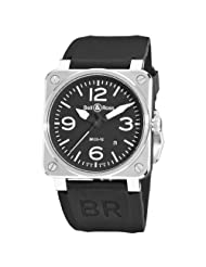 Bell & Ross Men's BR-03-92-STEEL Aviation Black Arabic Numberal Dial Watch Watch