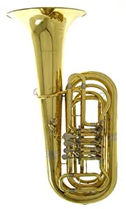 Wurzbach 4 Rotary Valve Tuba With Deluxe Case With Wheels