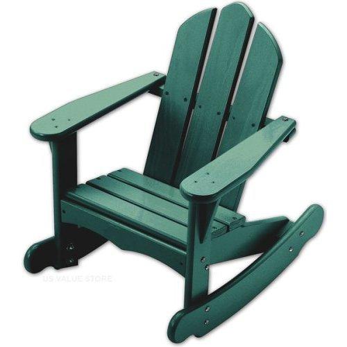Child's Adirondack Rocking Chair Green