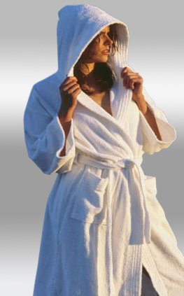 Heavy 14oz. Hooded Terry Robe W/double Stitching. Full Length 52 Inches - Several Colors Available