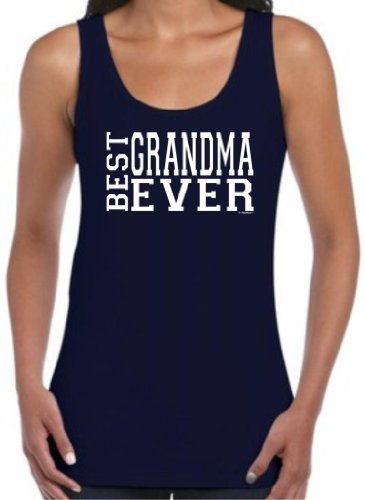 Best Grandma Ever Mother'S Day Juniors Tank Top Medium Navy front-961653