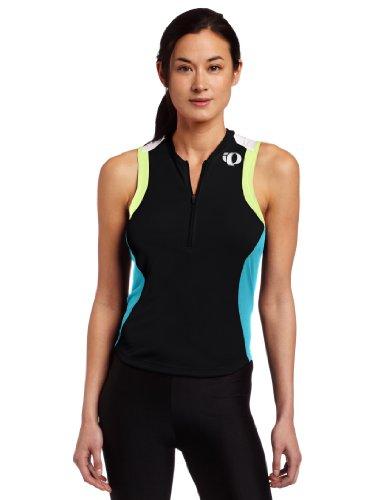 Pearl Izumi Women's Select Tri Sleeveless Jersey,Black/Scuba