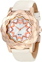 Brillier Women's 10-3F424-03 La Fleur Round Rose Gold Diamonds Analog Watch by Brillier