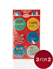 6 Christmas Badges