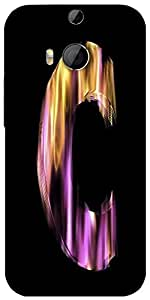 Snoogg Flaming 3D Letter Designer Protective Back Case Cover For Htc One M8