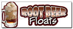 "48"" ROOT BEER FLOATS DECAL sticker rootbeer float mug"