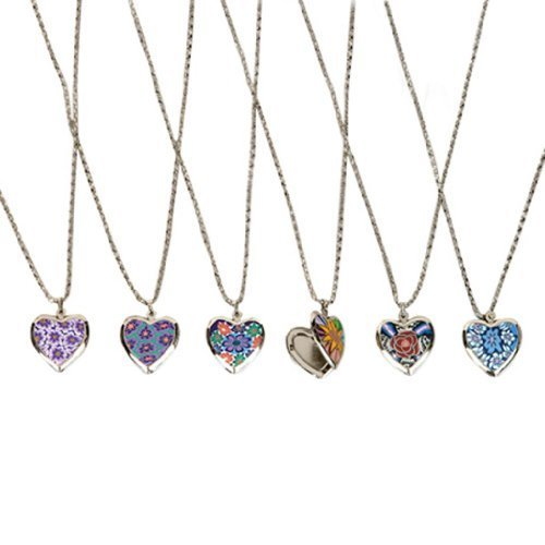 Valentines Heart Locket Necklace (6 per order) - 1