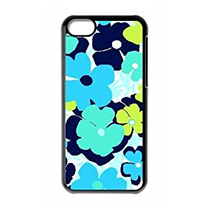 Blue flowers custom cover case for iphone 5c for Diy custom phone case