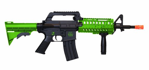 Crosman Undead Apocalypse Zombie Siege Tactical Airsoft Rifle, Black/Green