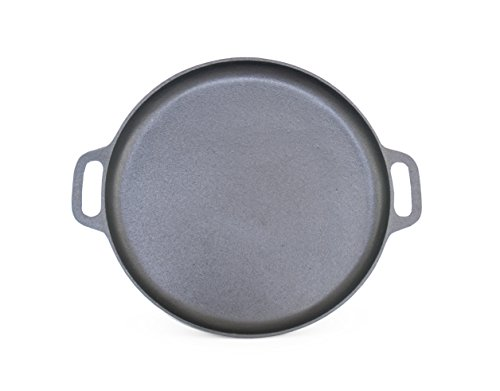 ForHauz Pre-Seasoned Cast-Iron Griddle/Pizza Pan, 14