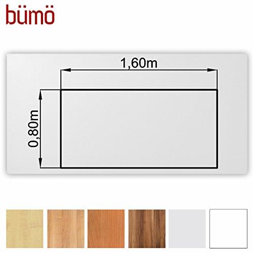 Bm-stabile-Tischplatte-25-cm-stark-DIY-Schreibtischplatte-aus-Holz-Brotischplatte-belastbar-mit-120-kg-Spanholzplatte-in-vielen-Formen-Dekoren-Platte-fr-Bro-Tisch-mehr-Rechteck-160-x-80-cm-Wei