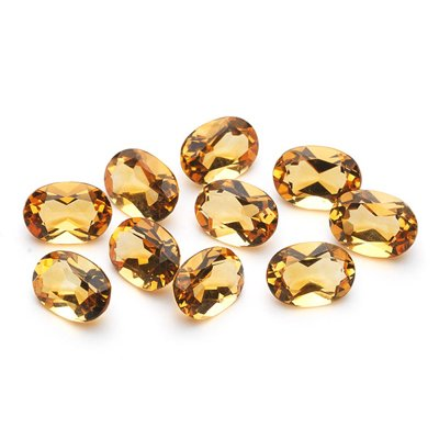 7x5 mm-6.82 Cts Loose Citrines Oval-AA
