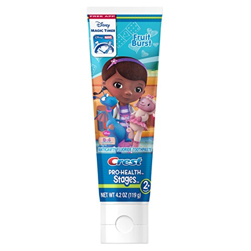 Pro-Health Stages Kids Toothpaste featuring Disney Pixar Cars and Planes with Disney MagicTimer App by Oral-B 4.2 Oz (Pack of 12)
