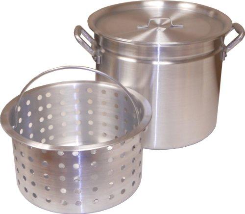 King Kooker Kk100R Aluminum Pot With Basket And Lid, 100-Quart
