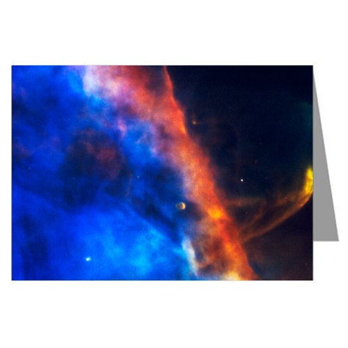Gas Plume From A Newborn Star In The Orion Nebula-Hubble Telescope Image From Nasa-Boxed Notecard Set