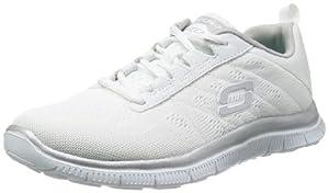 Skechers Flex AppealSweet Spot, Damen Sneakers, Weiß (WSL), 39 EU