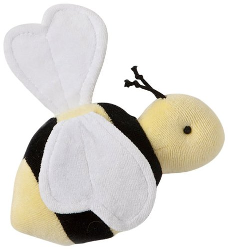 Burt's Bees Baby LY10412-SUN-OS-PH Velour Buzzy Bee Rattle Plush, Sunshine, One Size - 1