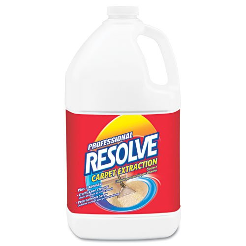 Professional RESOLVE Products - Professional RESOLVE - Carpet Extraction Cleaner, 1 gal. Bottle - Sold As 1 Each - Protect and clean your carpets-at home or in the office. - Three-in-one product acts as an extraction cleaner, traffic lane cleaner and pre-treatment spray. - Can be used on wool, nylon and other synthetic and stain-resistant carpets. - Concentrated formula makes up to 64 gallons. -